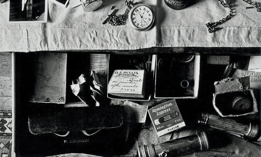 Wright Morris, Dresser Drawer, Ed's Place, Norfolk, Nebraska, 1947 © Estate of Wright Morris