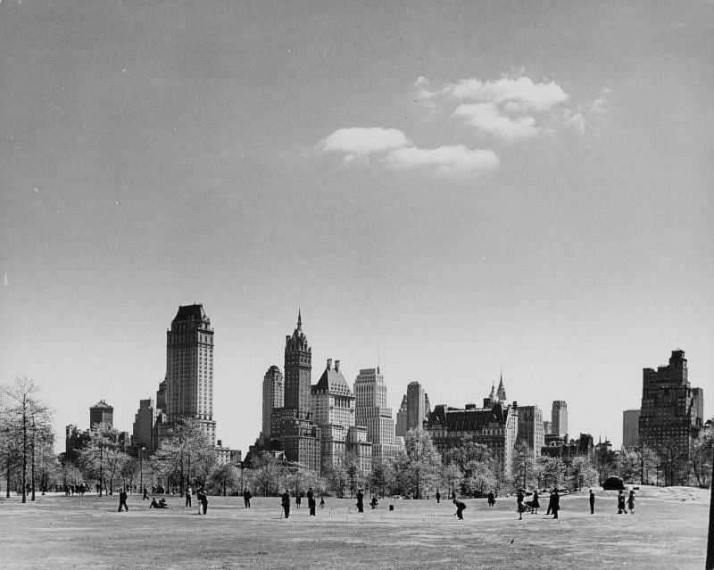 Sheep Meadow, Central Park, 1940.