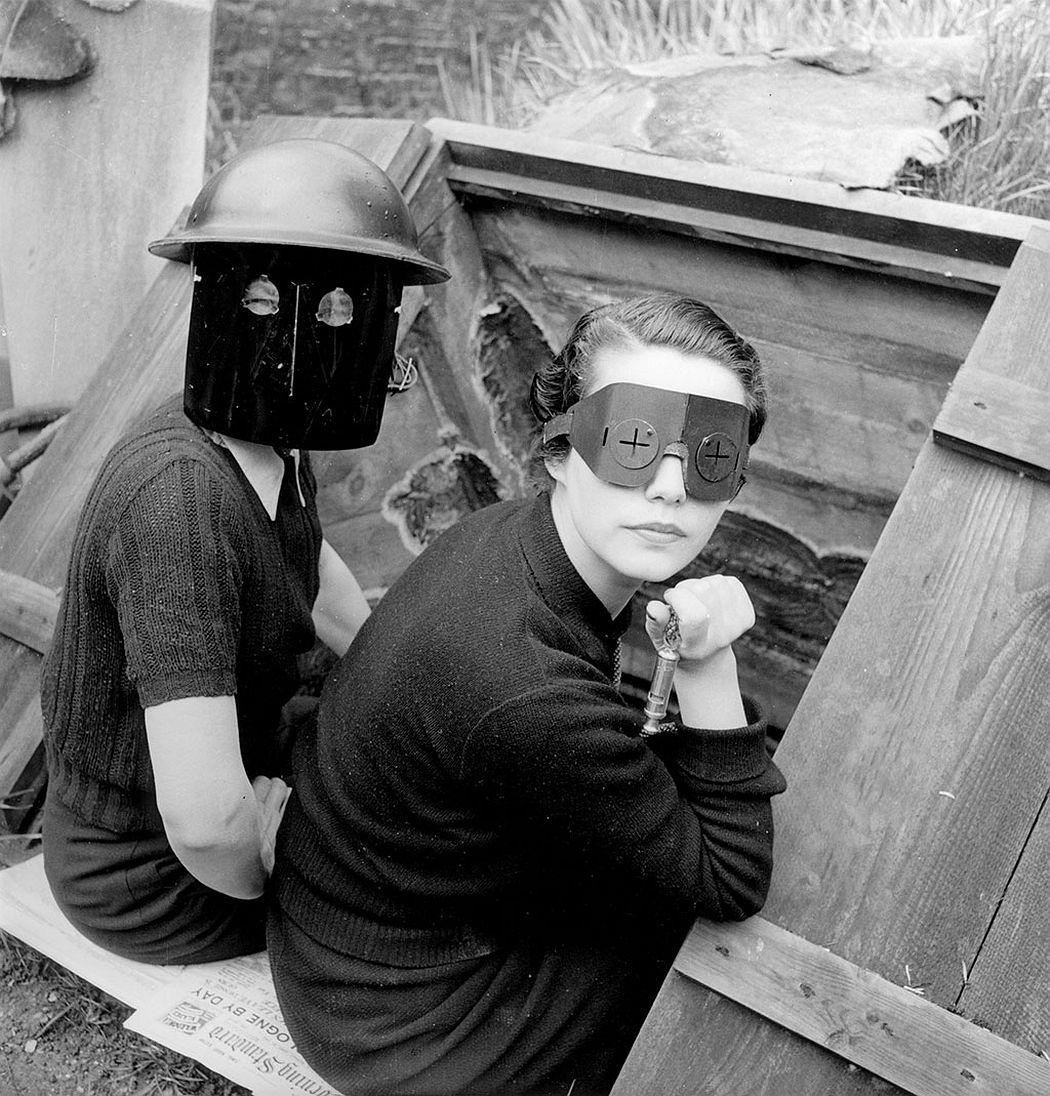 Fire Masks, London England, 1941 © Lee Miller Archives, England 2020 All rights reserved. leemiller.co.uk