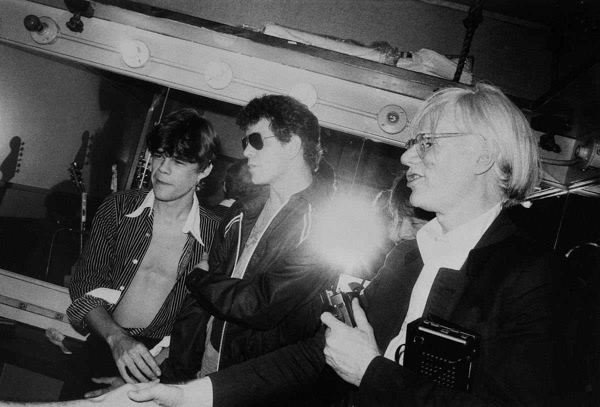 GARY GREEN David Johansen (New York Dolls), Lou Reed, Andy Warhol, The Bottom Line, New York, 1978 © Gary Green / Galerie Miranda