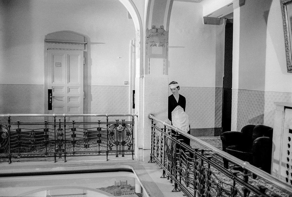 """Single Chambermaid"" (ca. 1970), 20"" x 24"", Gelatin Silver Photograph © Paul Ickovic / Courtesy of Robert Klein Gallery"