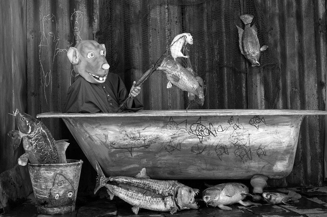 "Roger Ballen: Jackpot, 2016, from the series ""Roger the Rat"""