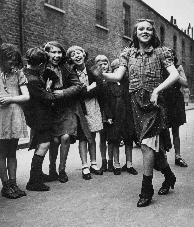 "Bill Brandt East End Girl Dancing the ""Lambeth Walk"", 1939 Private collection Courtesy Bill Brandt Archive and Edwynn Houk Gallery © Bill Brandt / Bill Brandt Archive Ltd."